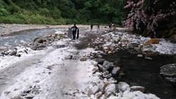 梵梵溫泉下雪了? 拍攝團隊疑在野溪撒鹽
