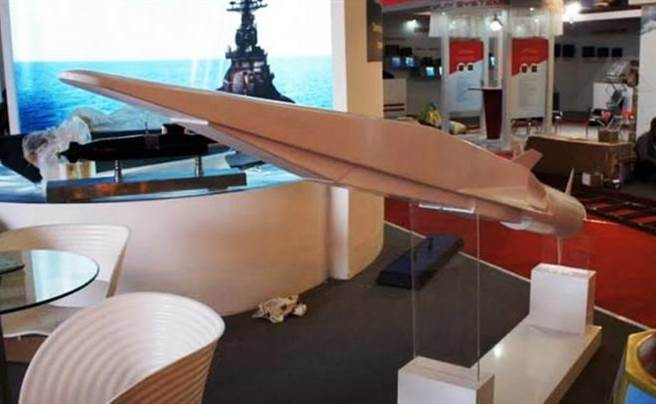 莫斯科航太展上展示的3m22模型,和美國的X-51很像。(圖/俄國衛星網)