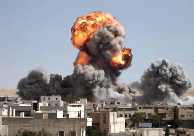戰火下的敍利亞。(檔案照/美聯社)