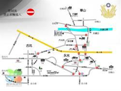實施交管 劍湖山跨年必看交通路線圖