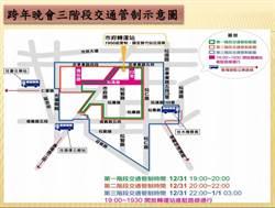 台北跨年晚會 周邊3階段交管