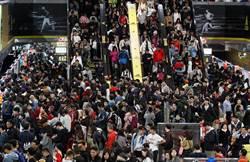 台北跨年晚會結束   捷運現人潮