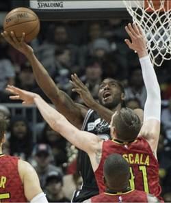 NBA》馬刺延長不敵老鷹 對戰11連勝止步