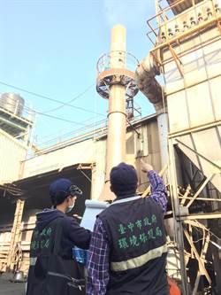 中市大數據分析監測 破獲工廠排放廢氣超標