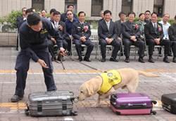 中市毒品查緝中心揭牌 緝毒犬助陣秀本領