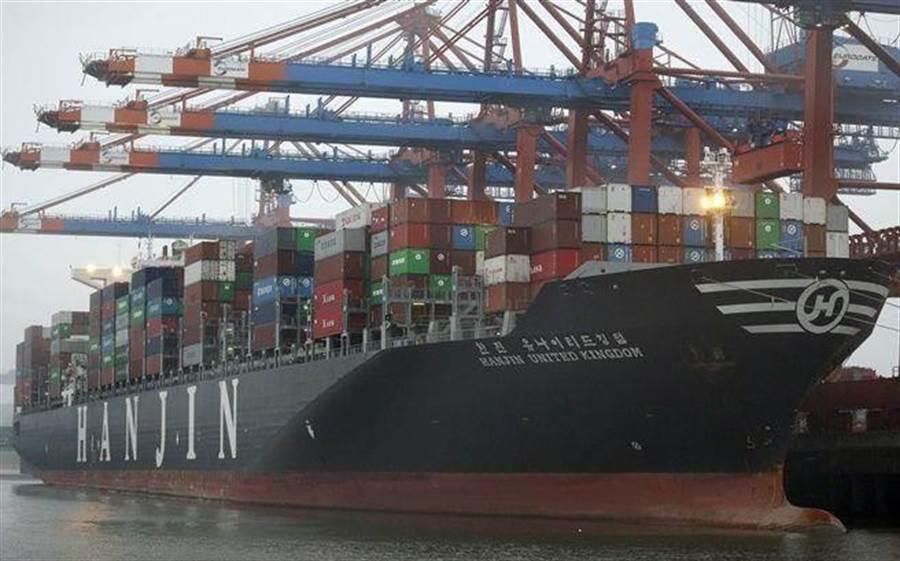 韓進破產後,韓國三大造船業也吹寒風。(圖/美聯社)
