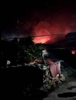 陸直升機泉州墜毀 濃煙滾滾