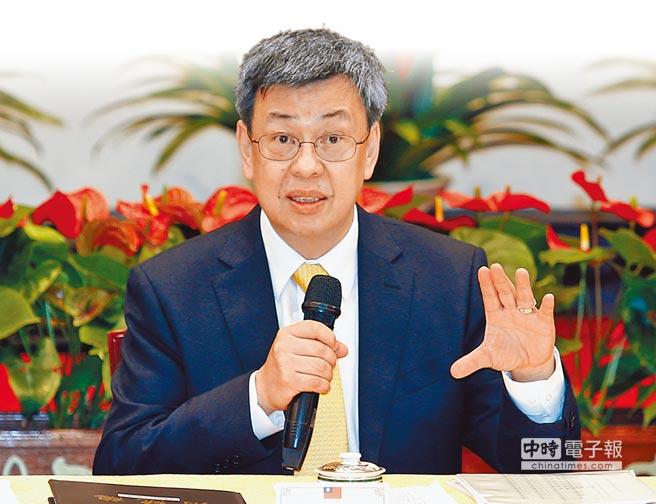 副總統陳建仁表示,年金改革是為了「世世代代領的到,長長久久領到老」。(姚志平攝)