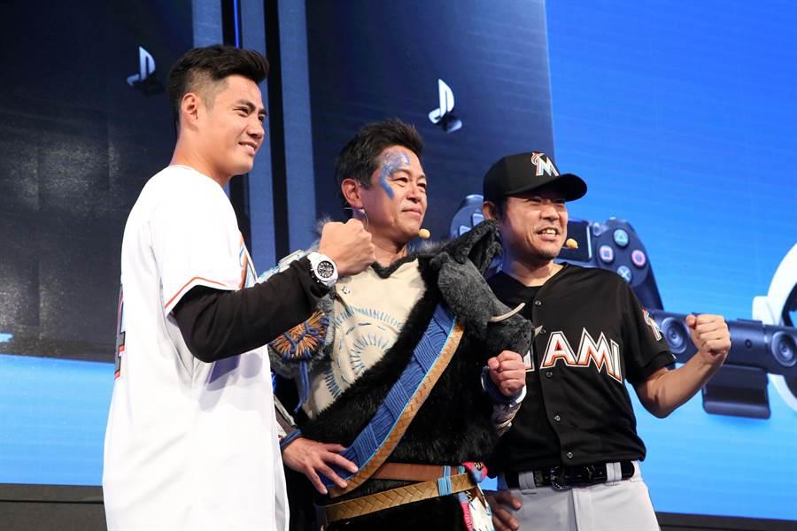 陳偉殷今出席台北國際電玩展開幕式。(李弘斌攝)