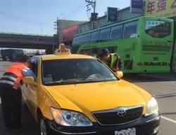 杜絕不良運將 中市警加強稽查違規計程車