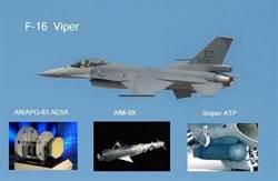 美媒:台F-16戰機升級新電戰系統