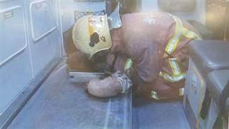 救毛小孩如救人 消防員對貴賓犬人工呼吸