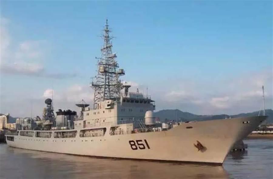 圖為中國851北極星號電子偵察船。(圖取自大陸國防部)