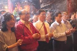 郝龍斌初二鎮瀾宮參拜:讓國民黨重返執政