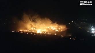 新屋倉儲大火 濃煙吞噬逾百坪