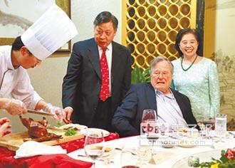 外國元首哈中餐 布希愛北京烤鴨