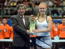 WTA台灣賽》史維托琳娜直落二退彭帥 捧生涯第5冠
