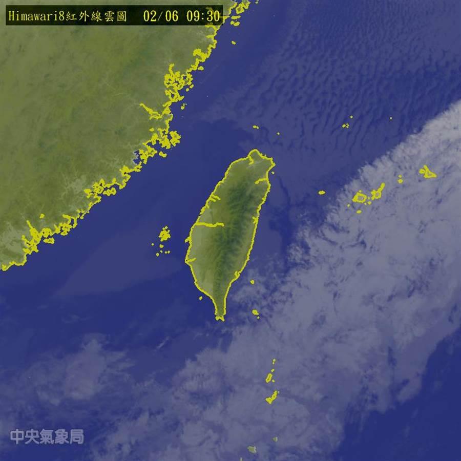 台灣今、明兩天受大陸高壓籠罩,晴朗穩定。(圖/中央氣象局)