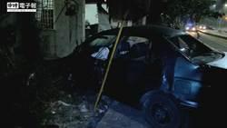 轎車失控撞民宅 釀1死4輕重傷