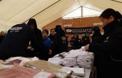 慈濟海外援助國際難民  發放飲食衣物