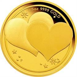 西洋情人節將屆 業者推全球限量「心心相印金幣」搶市