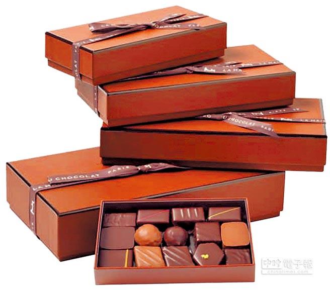 La Maison Du Chocolat巧家禮盒包裝,帶有愛馬仕精品的實感。(翻攝自官網)