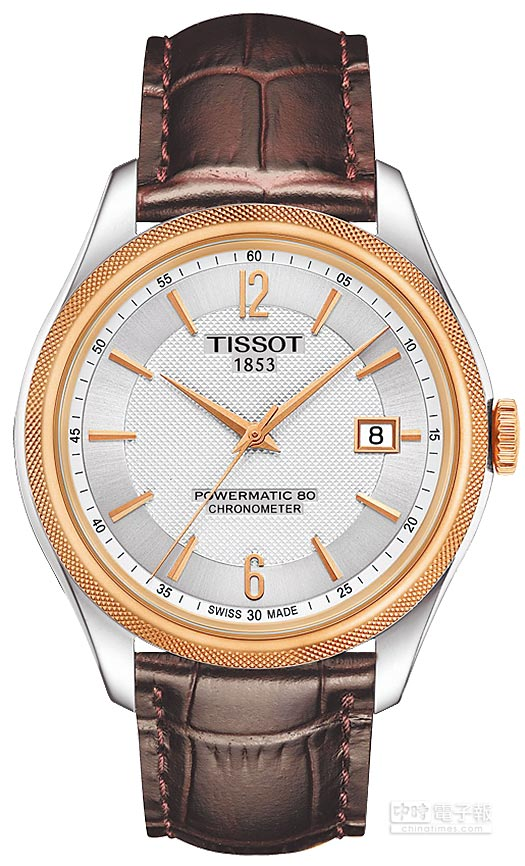 TISSOT Ballade寶環系列矽游絲COSC男款腕表,3萬2400元。