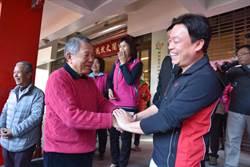 詹啟賢參拜新竹文林閣 承諾當選會還願