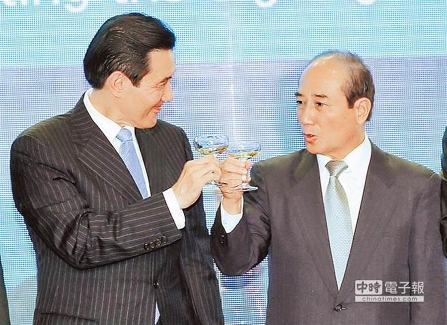 馬英九(左)、王金平(右)。(報系資料照片)