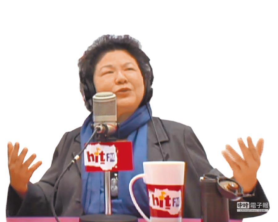 高雄市長陳菊(摘自Hit Fm聯播網《蔻蔻早餐》)