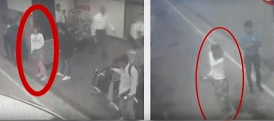 馬來西亞機場的監視器錄影帶顯示,兩名疑為越南人的女子在行凶後,準備搭乘計程車逃離現場。(YouTube截圖)