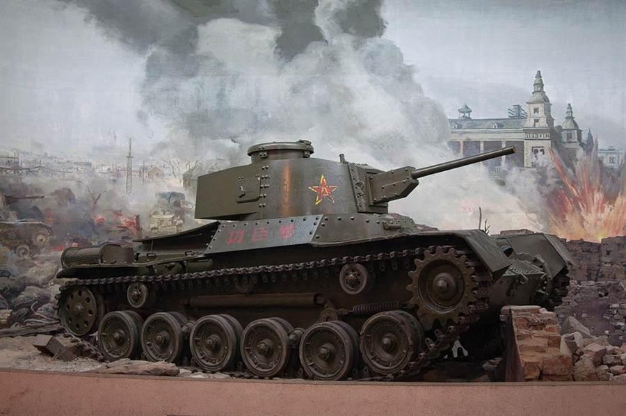 解放軍歷史上的第一輛戰車功臣號,為日本生產的九七式戰車。在1946年的通化暴動爆發時,中日聯軍曾試圖從共軍手中搶奪此型戰車。(網路照片)