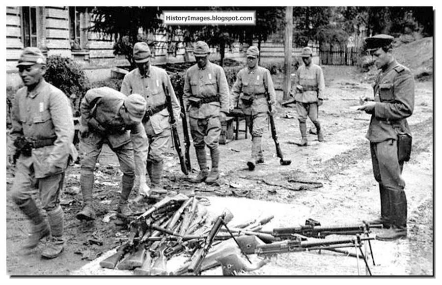 已經在東北向蘇聯紅軍投降的日本關東軍,因為國共衝突又再度捲入是非。(網路照片)