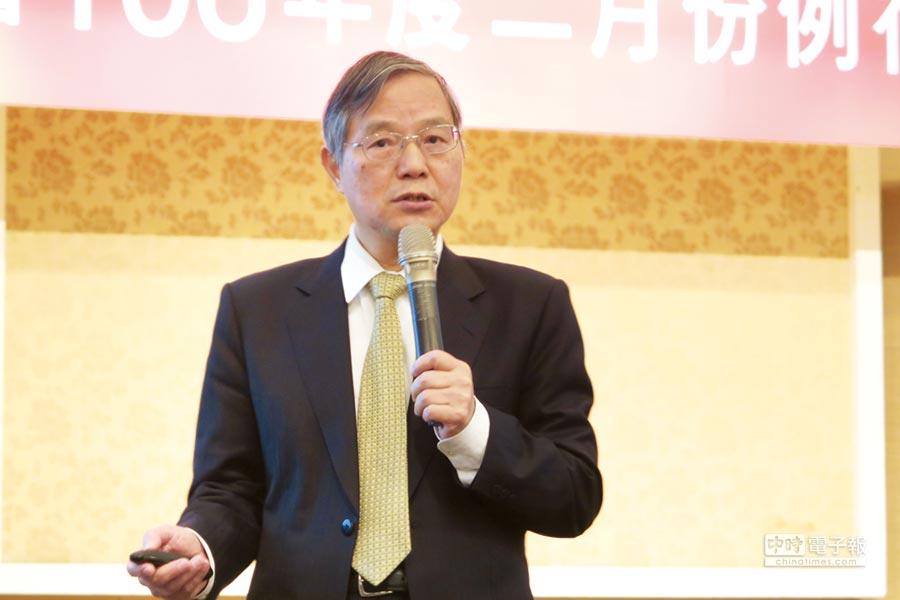 希望大家多投資! 陳添枝應三三會之邀,以「再造台灣產業成長動能」為題進行演講。圖/三三會提供