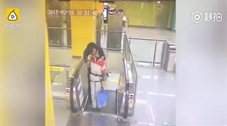 噁心!壯男強吻清潔婦 影片曝光驚呆網友