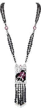 Van Cleef & Arpels Cerf-Volant long necklace長項鍊表,將項鍊與懷表概念結合,讓腕表裝飾性更強。