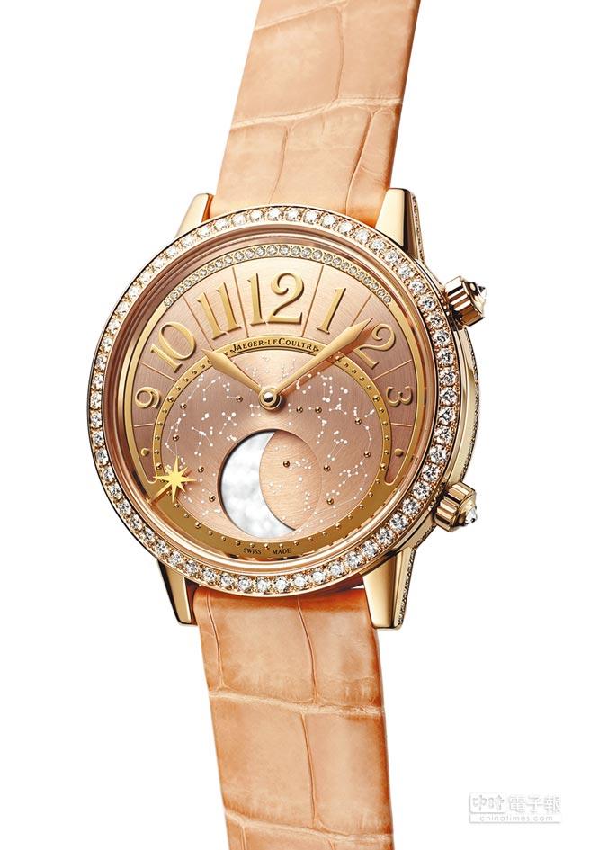 Jaeger-LeCoultre Rendez-Vous Moon約會系列月相腕表,充滿女性優雅氣息,約113萬元。