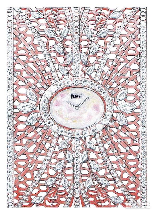 PIAGET高級珠寶金質蕾絲手鐲表,約985萬元。