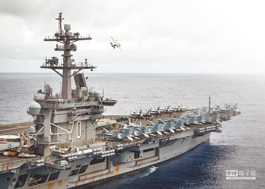 美軍卡爾文森號航母戰鬥群。        (取自美國海軍官網)