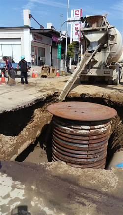 中市水管遭挖斷 最快晚間6時陸續供水