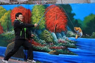 舊物妝點彩繪牆面 板橋大豐里3D街景藝術成景點