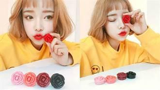 3CE注目新品「玫瑰造型潤唇膏」 可愛外型讓人忍不住包色啦!