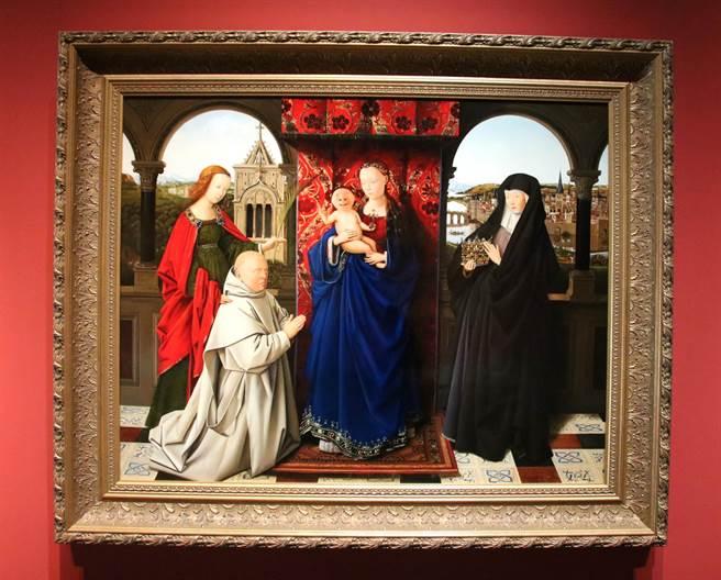 ▲藝術家盧昉在《是古非今》個展,展出的《大鼻子與聖母》作品。(楊樹煌攝)