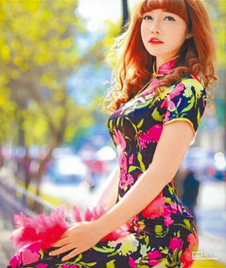 刺客起底  涉嫌刺殺金正男的越南籍女子段氏香身穿旗袍的美照。案發時,段氏香身穿印有LOL字母的白色上衣,被稱為「LOL女刺客」。(摘自網路)