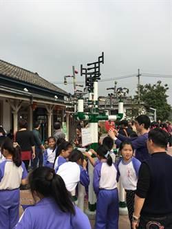 「雧」景觀裝置 「聲音樹」矗立集集火車站