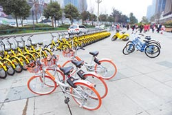 陸共享單車競爭烈 小品牌處下風
