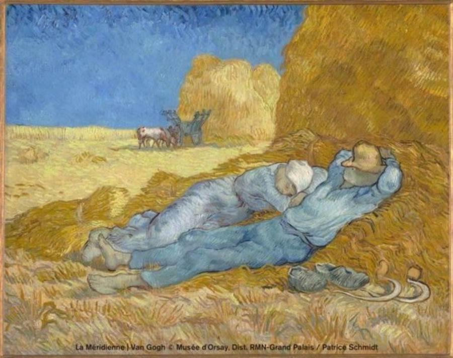 文生.梵谷,《午睡》,1889-1890(圖/時藝多媒體提供)