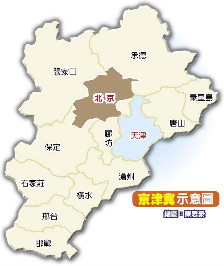 京津冀示意圖