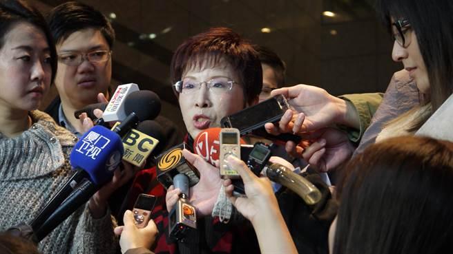 針對詹啟賢提議到中常會報告319槍擊案經過,洪秀柱表示,已請秘書長研究舉行形式。(潘維庭攝)