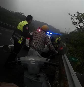 騎機車誤上國道  警方教導如何求援
